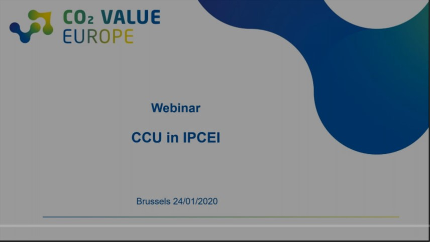 Webinar on the inclusion of CCU technologies in IPCEI